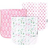 """Baby Burp Cloth Large 21''x10'' Size Premium Absorbent Triple Layer 3 Pack Gift Set for Girls """"Claire Set"""" by Copper…"""