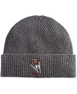 Polo Ralph Lauren Unisex Bear Design Wool Winter Skulllie Cap Beanie Hat  One Size 095adf242cf5