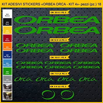 Kit Pegatinas Stickers Bicicleta ORBEA Orca- Kit 4-18 Piezas- Bike ...
