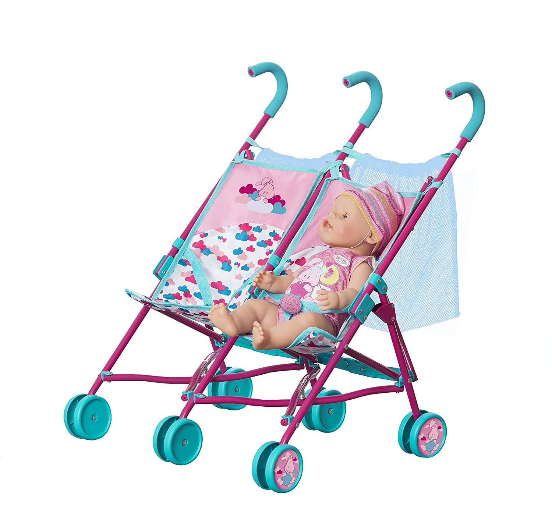 Baby Born 1423493 passeggino gemellare bambola di