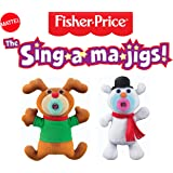 Mattel The Sing-A-Ma-Jigs Christmas Combination Duo Set - Reindeer and Snowman