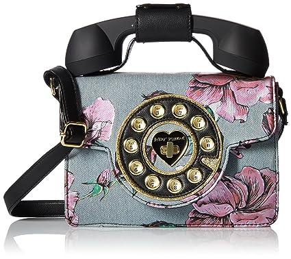 Betsey Johnson Mini Denim Flower Print Phone Bag  Handbags  Amazon.com