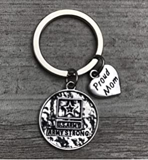 Proud Air Force Mom Key Chain Berry Pink Eagle Crest