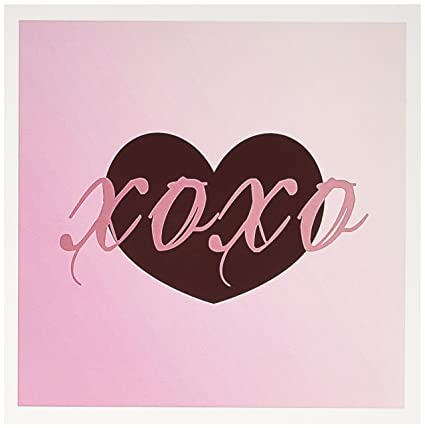 Amazon 3drose pink xoxo love heart hugs and kisses greeting 3drose pink xoxo love heart hugs and kisses greeting cards 6 x 6 m4hsunfo