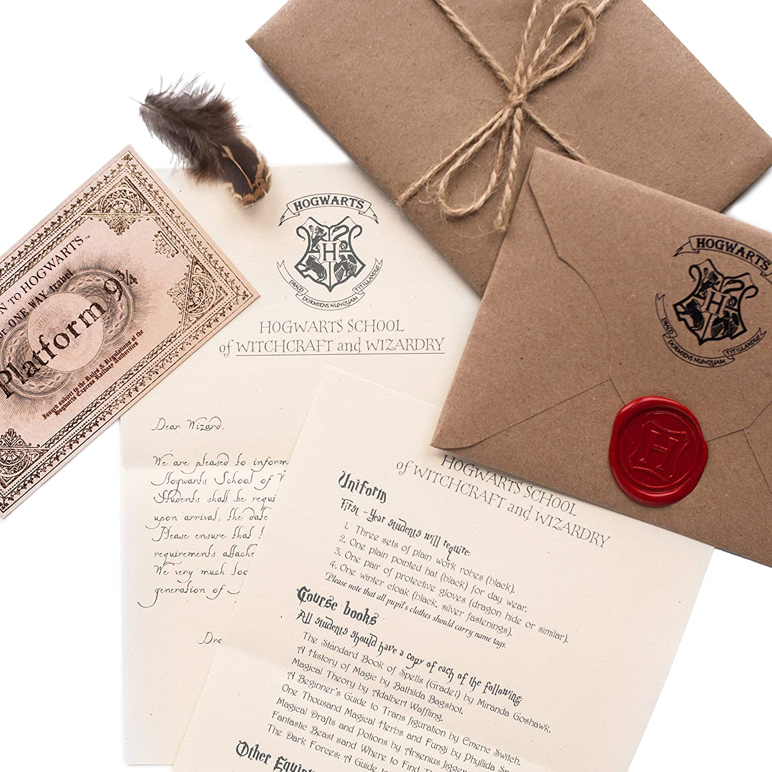 Repuesto Para Carta De Harry Potter De Hogwarts Aceptación Carta Regalos A Office Products