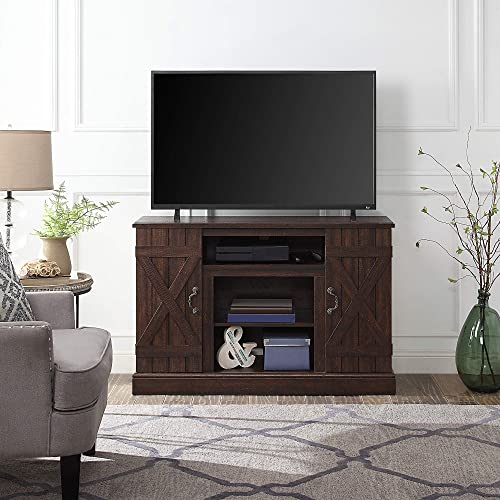 BELLEZE Veropeso 46″ Industrial Wood TV Stand Console