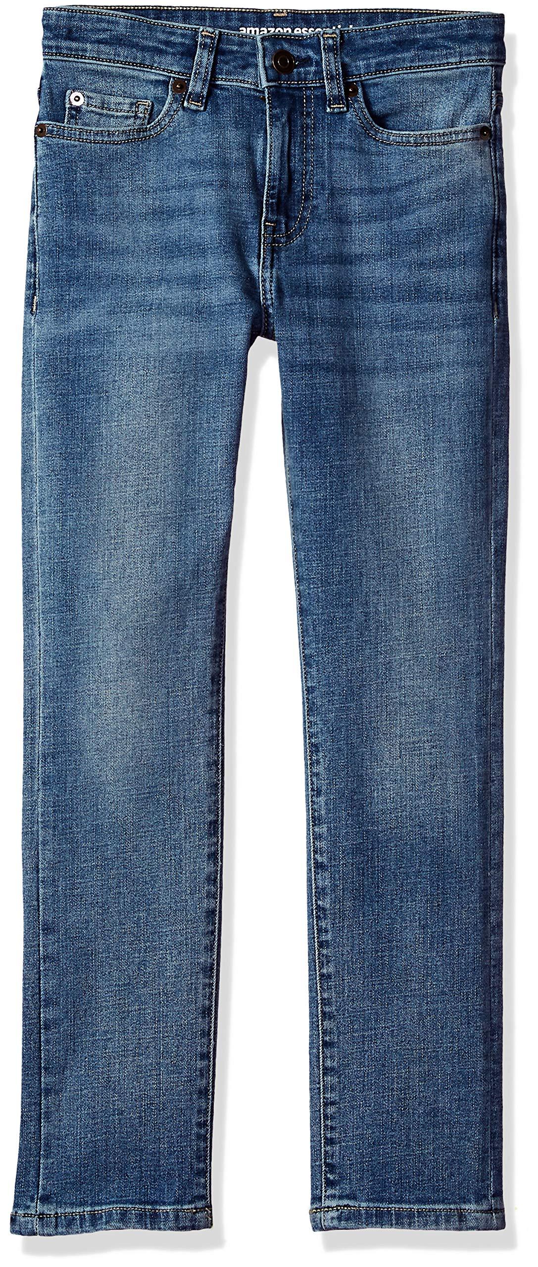 Amazon Essentials Big Boys' Slim-Fit Jeans, Doppler/Light Wash,10 by Amazon Essentials