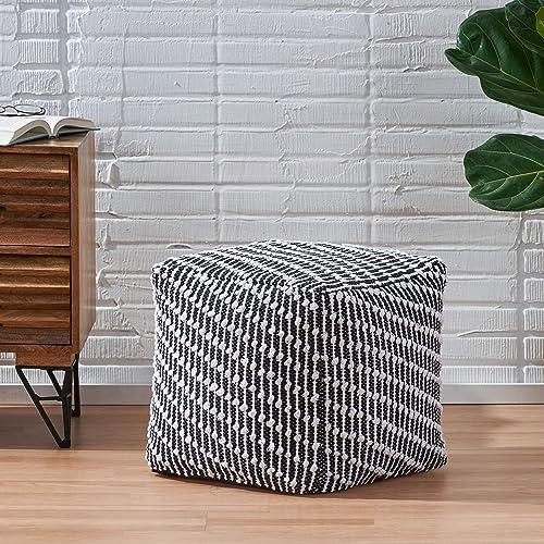 Christopher Knight Home Grace Boho Fabric Cube Pouf