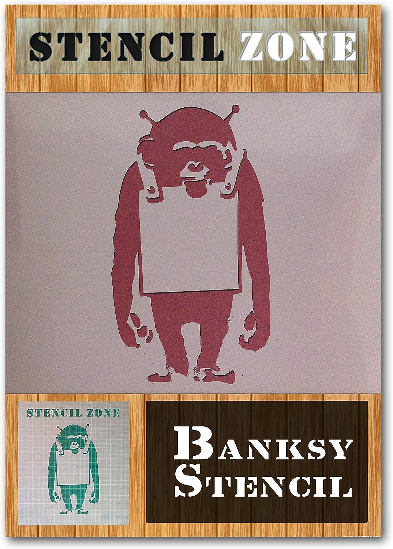 A2 Taille Pochoir - Large Banksy Mylar Singe Airbrush Peinture murale Art Pochoir