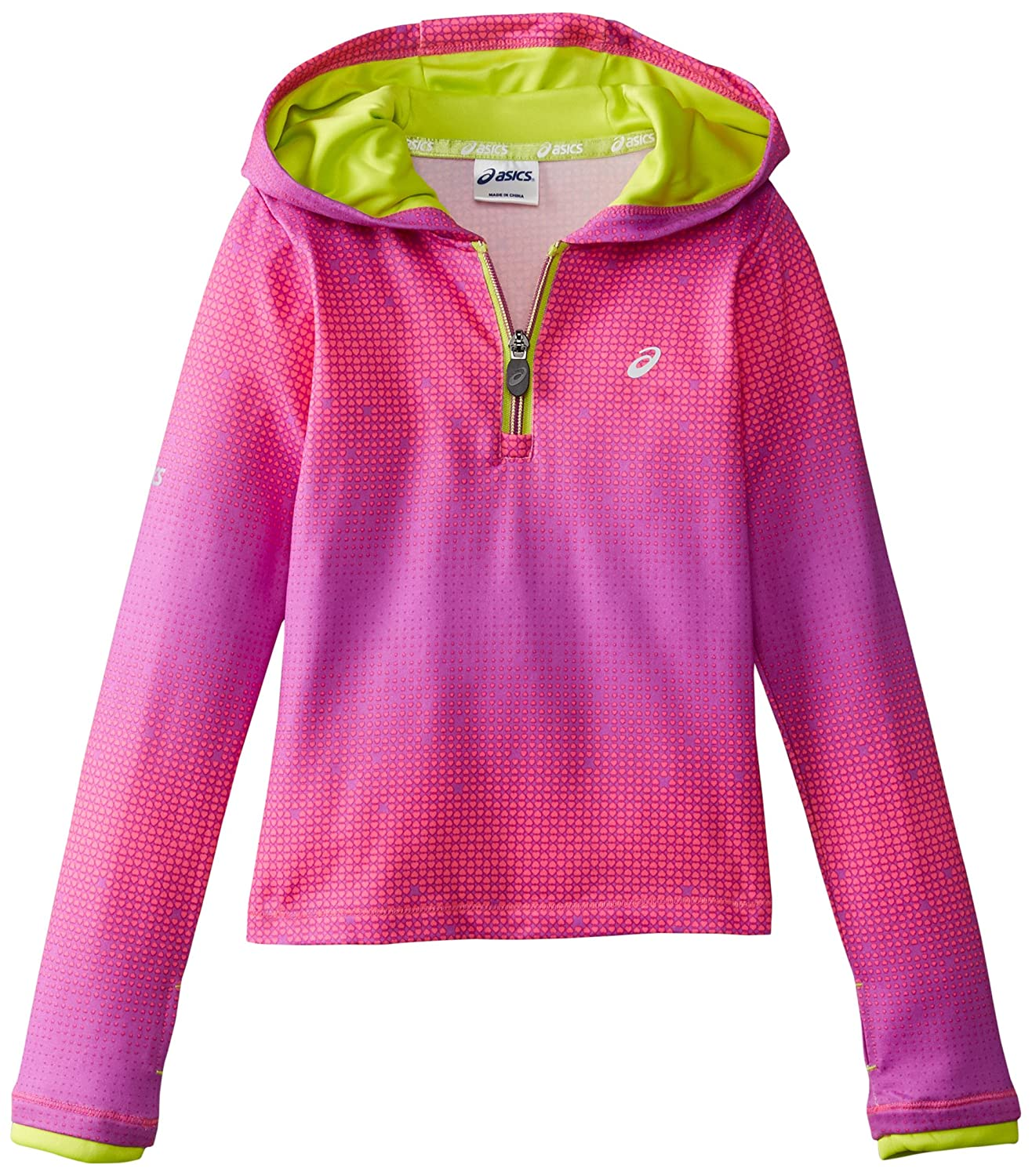 ASICS Little Girls' Long Sleeve Sonic Hooded Popover ASICS Girls 2-6x 3543120E