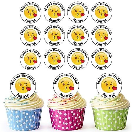 24 emojis personalizables, beso, cara, comestibles, cartel ...