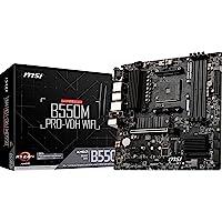 MSI B550M PRO-VDH WiFi ProSeries Motherboard (AMD AM4, DDR4, PCIe 4.0, SATA 6Gb/s, M.2, USB 3.2 Gen 1, Wi-Fi, D-SUB/HDMI…