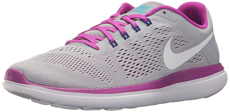 NIKE Women's Flex 2016 Rn Running Shoes B014ECHN1S 8 B(M) US|Wolf Grey/White/Hyper Violet/Concord