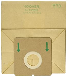 Hoover Paper Bag, R-30 with 1 Secondary 1 Final Filter (Pack of 5)