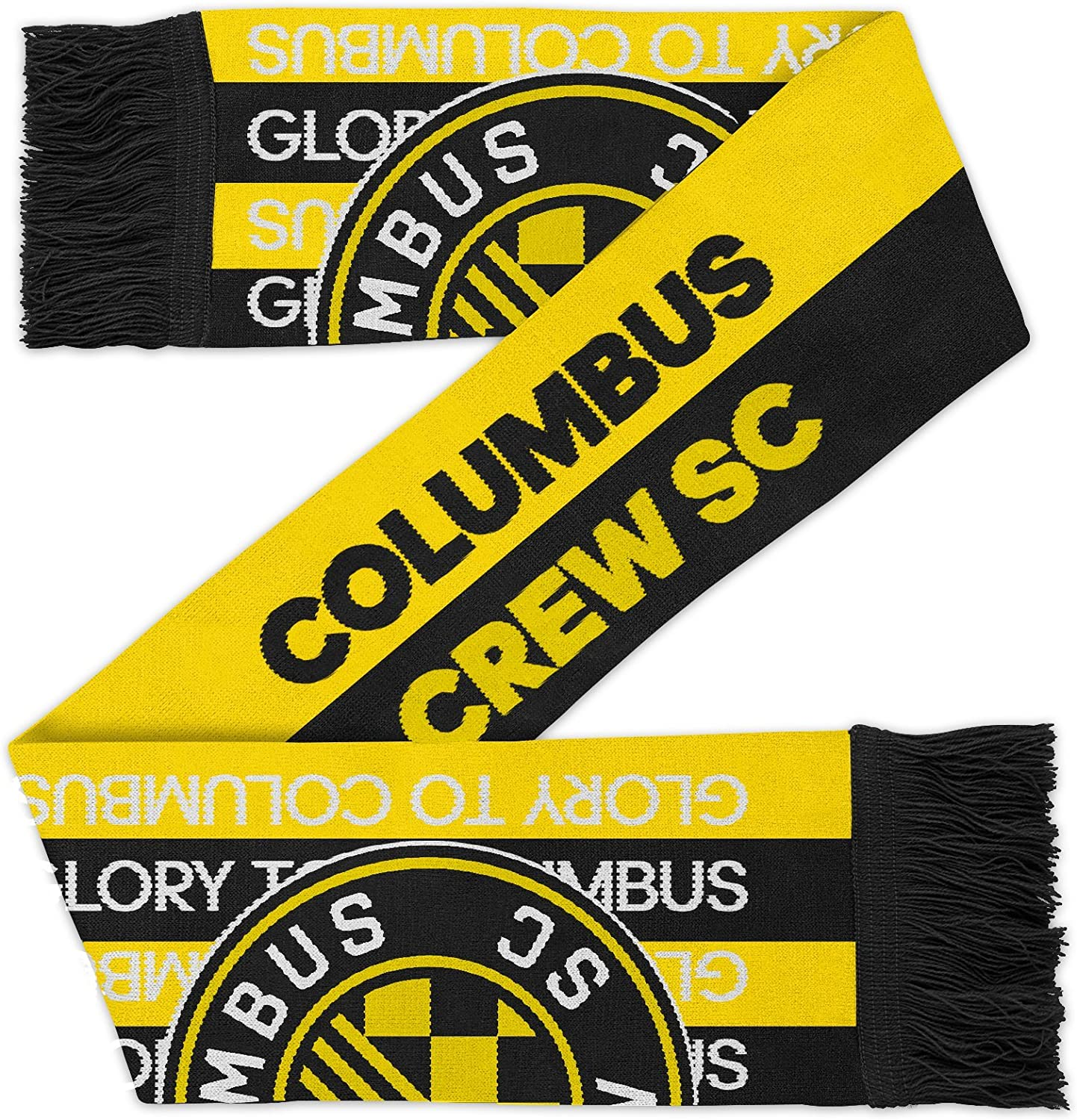 Youth One Size MLS Columbus Crew Youth Outerstuff Fan Cuffed Pom Hat Team Color