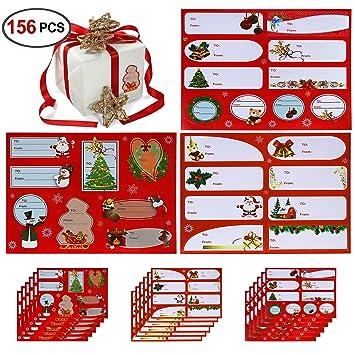 amazon com christmas gift labels 156 labels 18sheets konsait