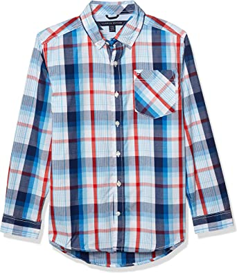 Tommy Hilfiger Boys Long Sleeve Button Down Woven Shirt