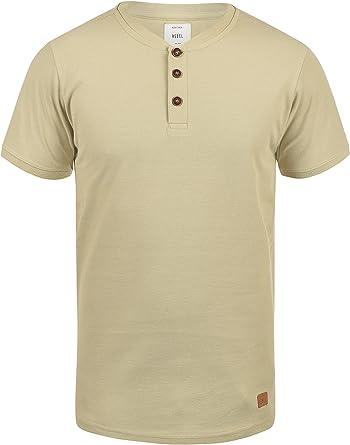Redefined Rebel Mulligan Camiseta Básica De Manga Corta T-Shirt para Hombre con Cuello Grandad De 100% algodón: Amazon.es: Ropa y accesorios
