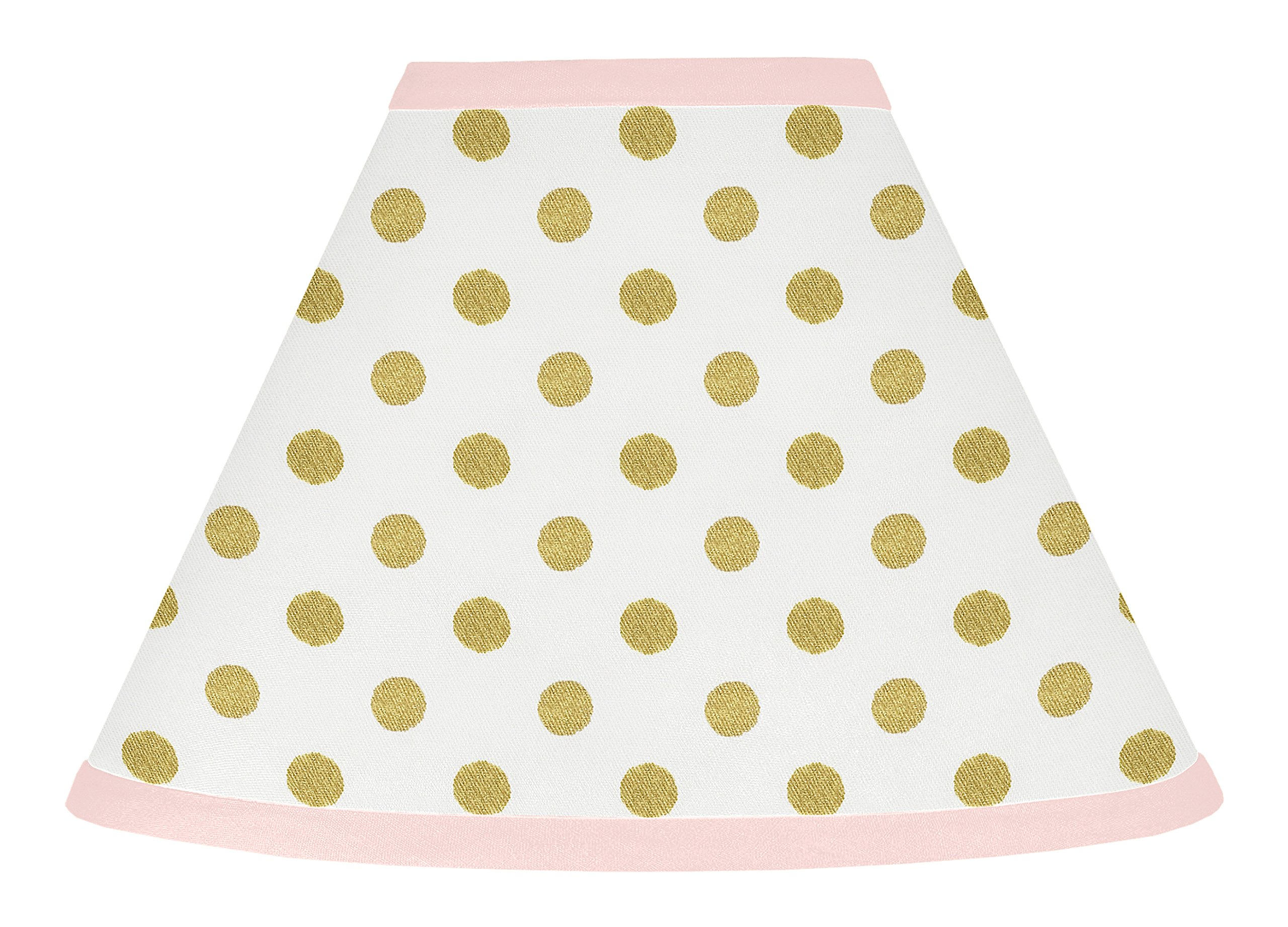 Sweet Jojo Designs Baby Girl Childrens Lamp Shade for Blush Pink White Damask and Gold Polka Dot Amelia Collection by Sweet Jojo Designs (Image #1)