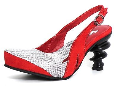 43c9603907c2 Tiggers Damen Pumps Rot-Kombi (Rot) Drea 10  Amazon.de  Schuhe ...