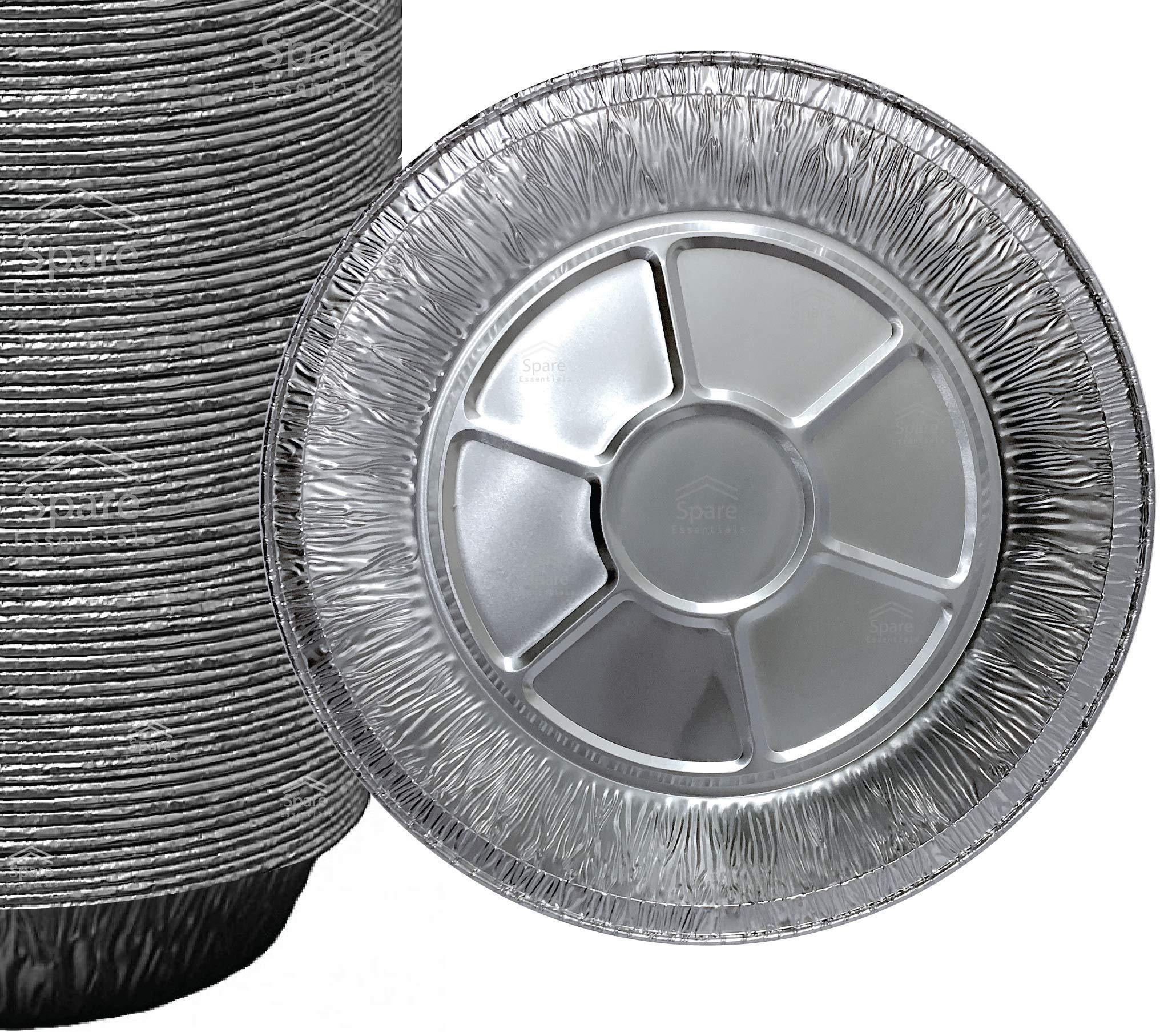 25 Pack 9'' Pie Pans/Disposable Plates/Aluminum Foil Quinche Pan/Tart Tins/Pie Tins/Aluminum Pie Pans by Spare Essentials