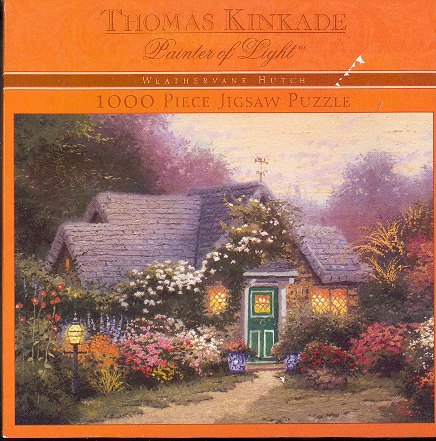 Thomas Kincaid Painter of Light Weathervane Hutch 1000 Piece Jigsaw Puzzle by Ceaco