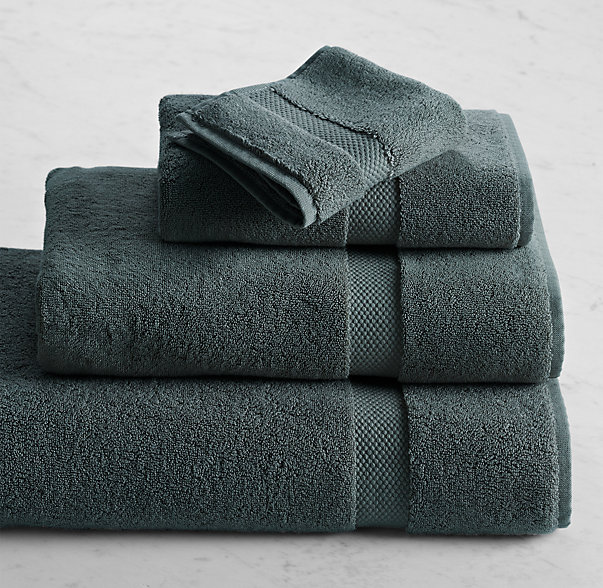 802-Gram Turkish Washcloth | Color: Slate