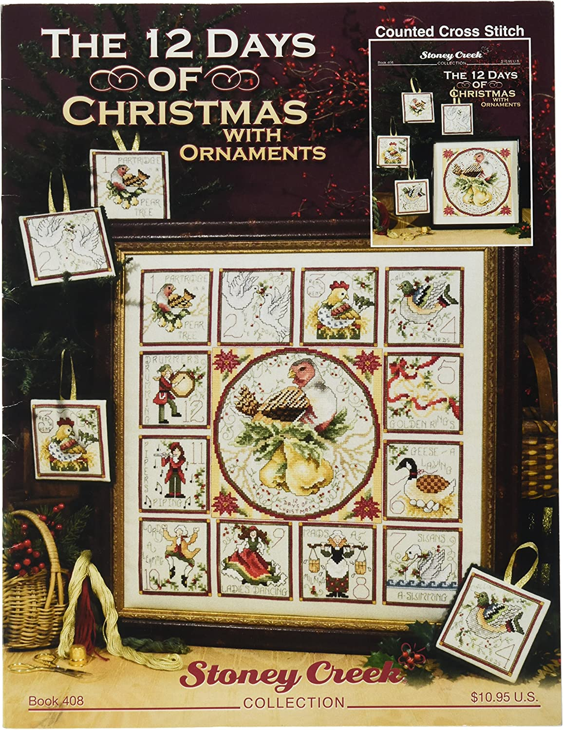 Amazon Com Stoney Creek The 12 Days Of Christmas With Ornaments Book Arts Crafts Sewing