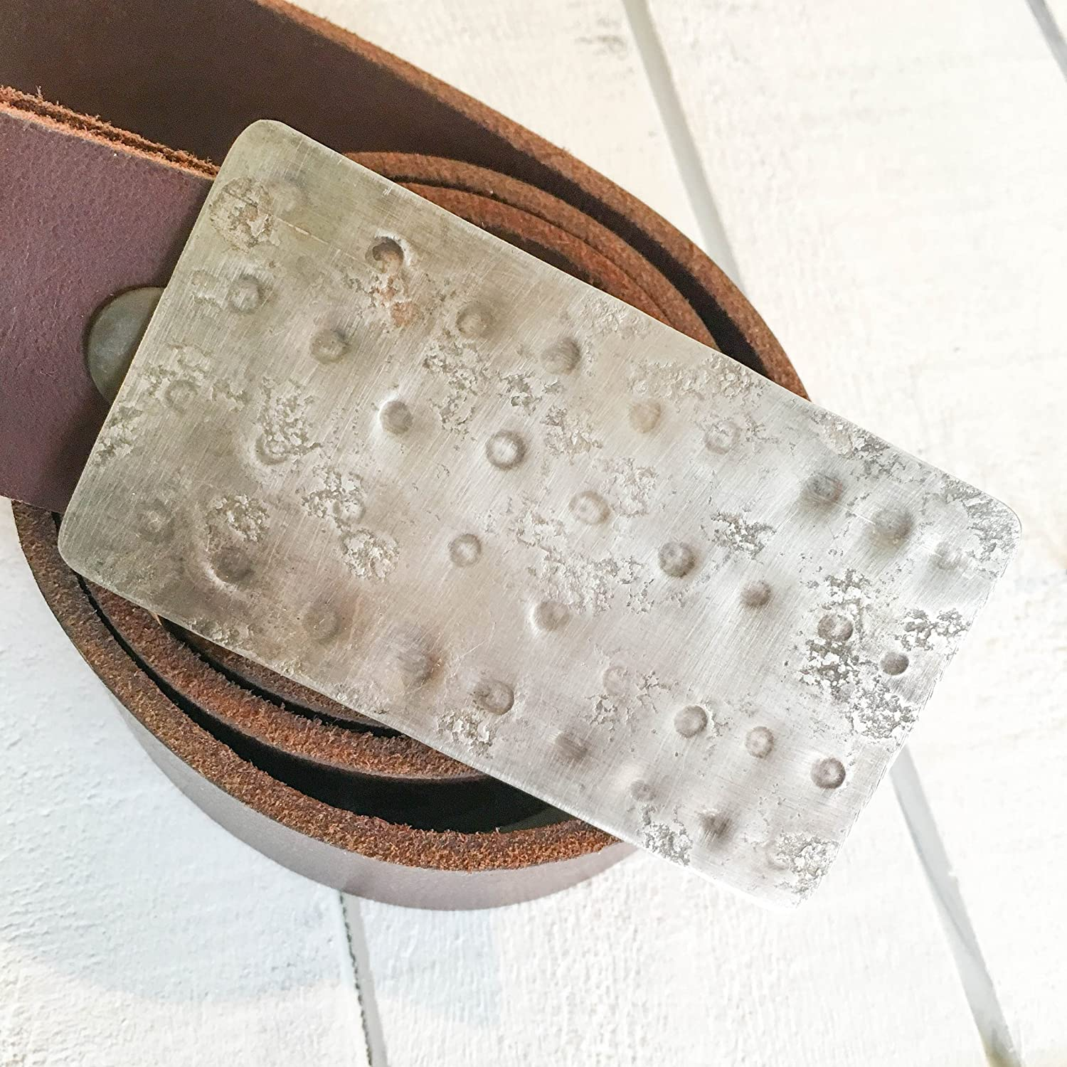 Hammered Belt Buckle