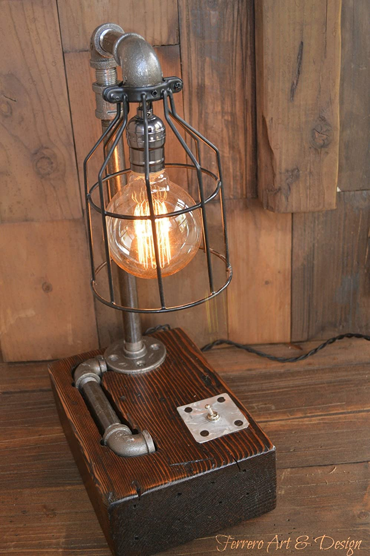 steampunk lighting. Amazon.com: Steampunk Desk Lamp Lighting Rustic Light Industrial Decor Pipe  Pipes Edison Bulb Vintage: Handmade Steampunk Lighting I