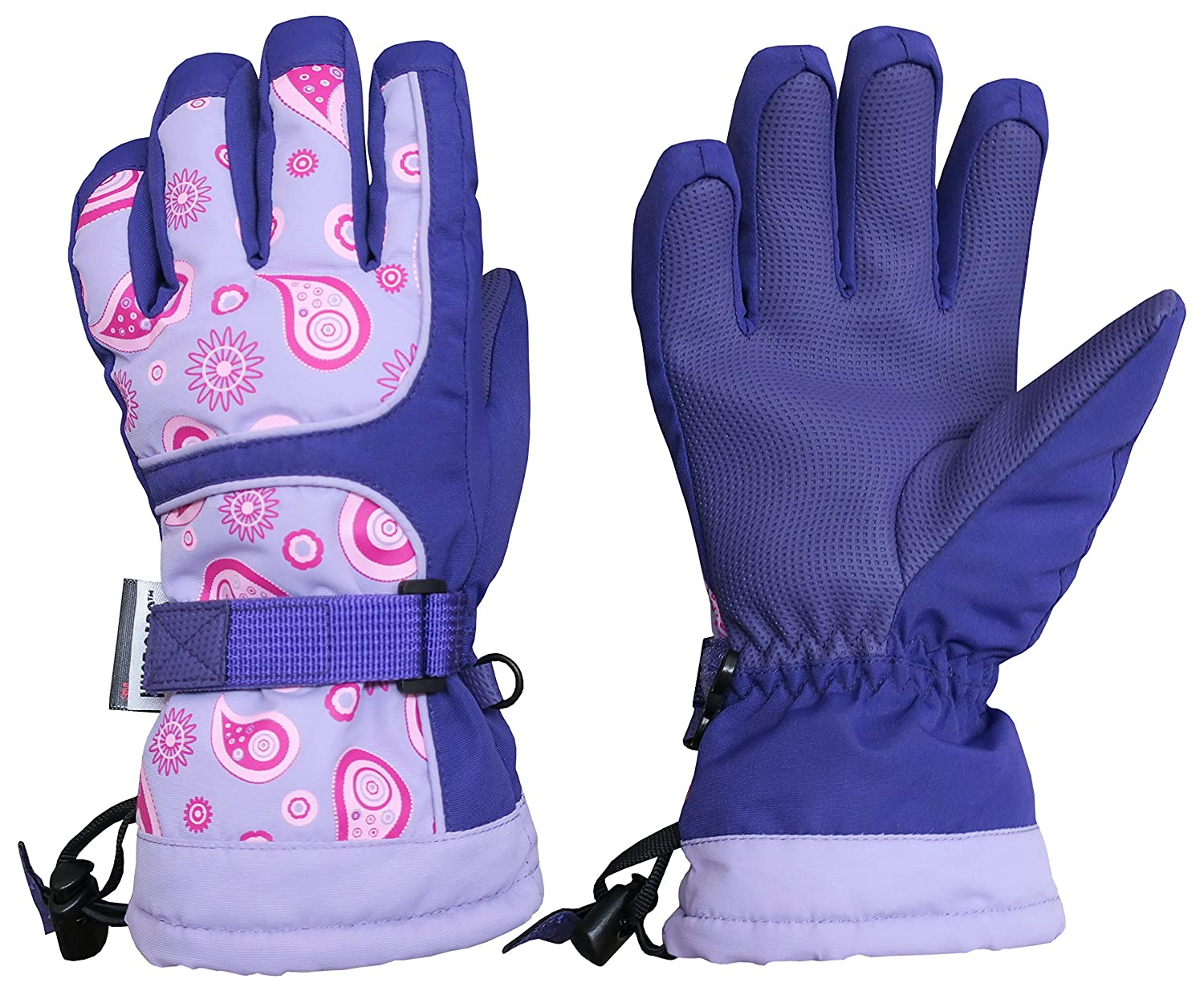 N'Ice Caps Kids Scroll Print Waterproof Thinsulate Insulated Winter Snow Gloves 4976