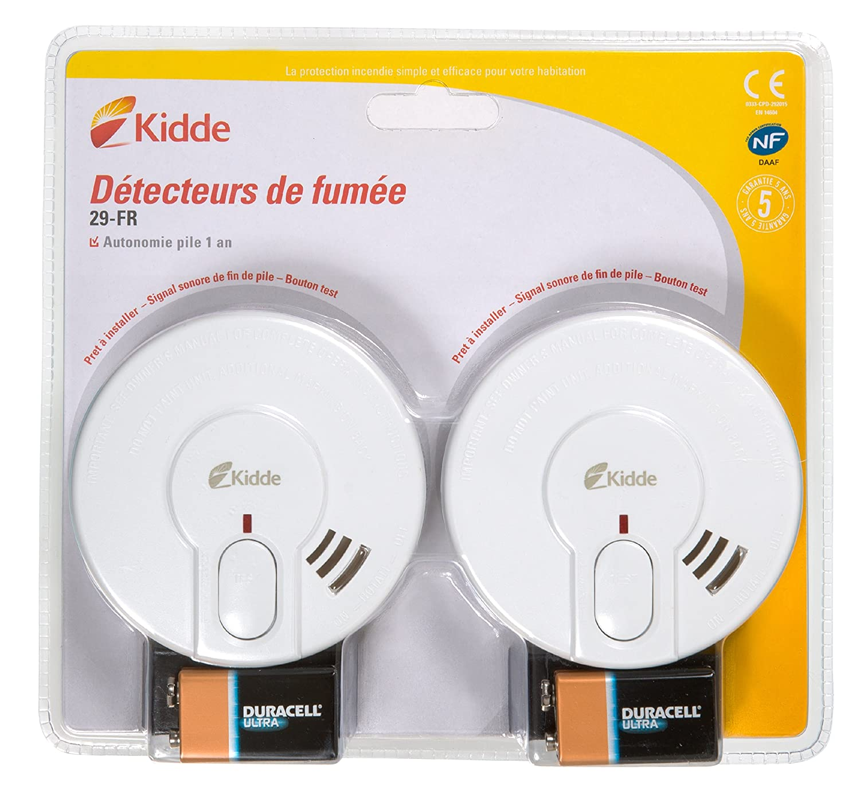 Kidde KIDBIPACK29-FR Pack 2 Dé tecteurs de fumé e STD