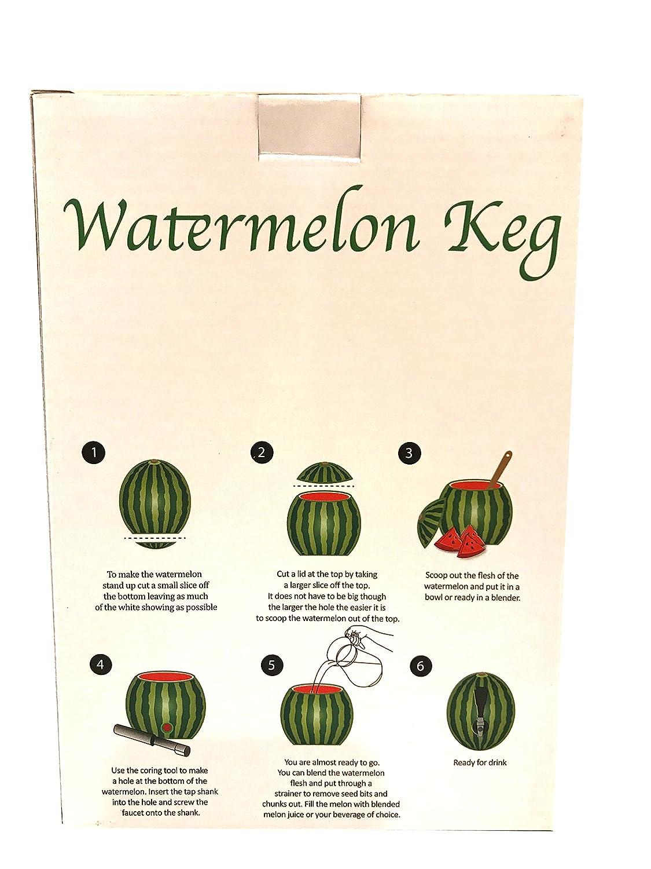Amazon.com | Tasty Fun Watermelon Keg Tapping Kit: Beverage Serveware