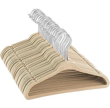 Amazon.com: ZOBER perchas de terciopelo para niños de ...
