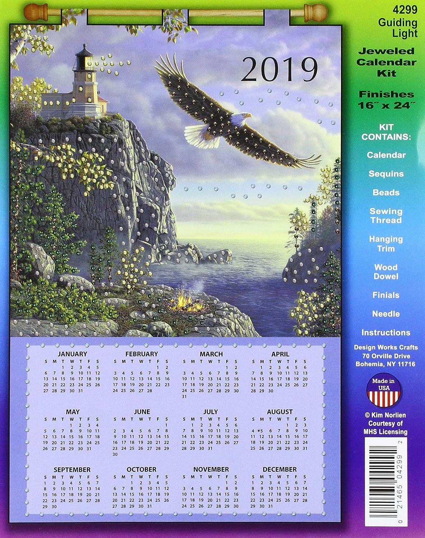 Design Works Crafts DW4299 SequinCalendar2019GuidingLght Sequin Calendar 2019 Guiding Light,