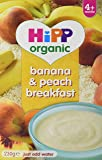 HiPP Organic Banana and Peach Breakfast 230 g (Pack of 4)