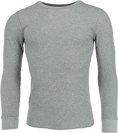 FRUIT OF THE LOOM Camisa térmica de cuello redondo grande y alto para hombre