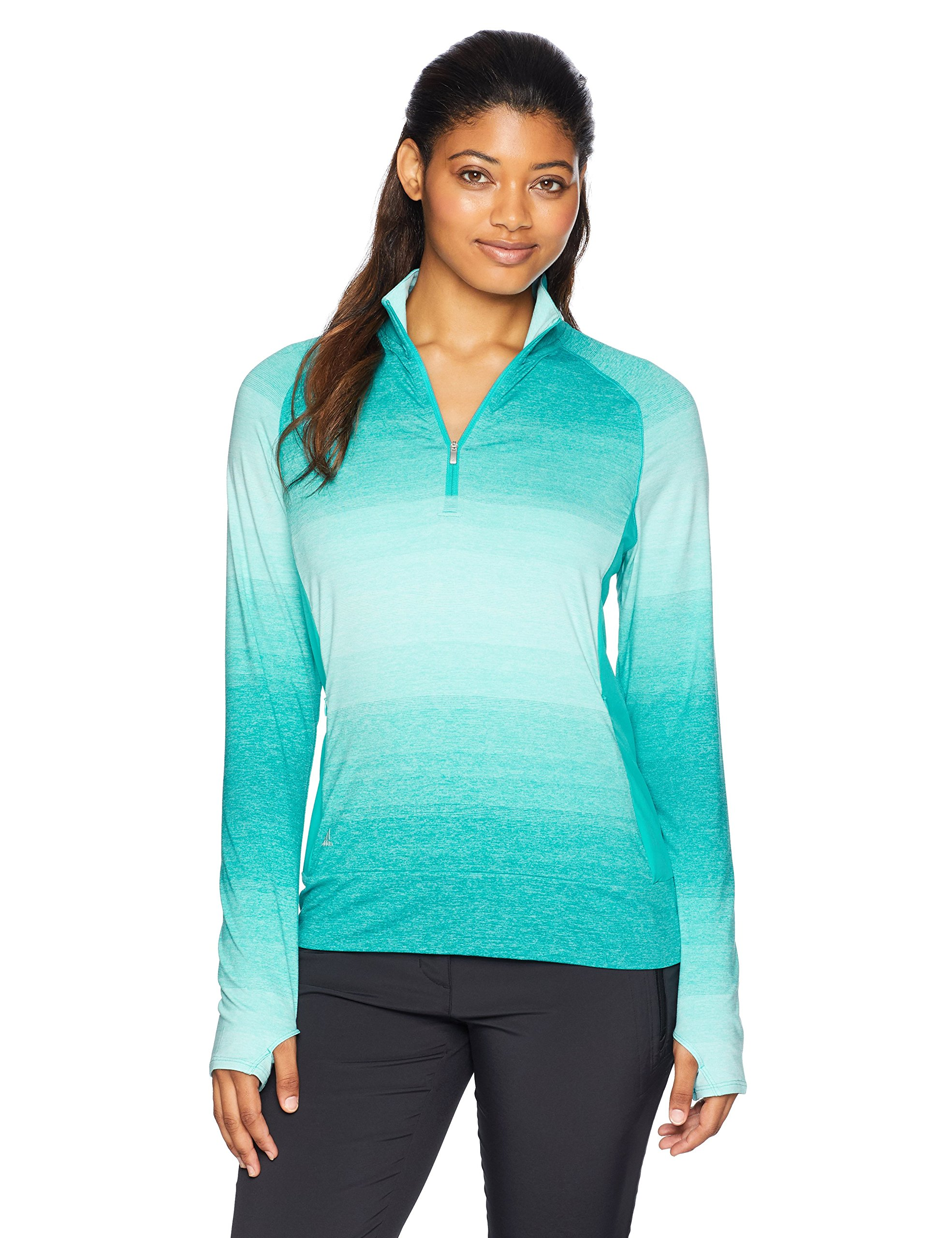 adidas Golf Women's Rangewear 1/2 Zip Jacket, Small, Hi-Res Aqua