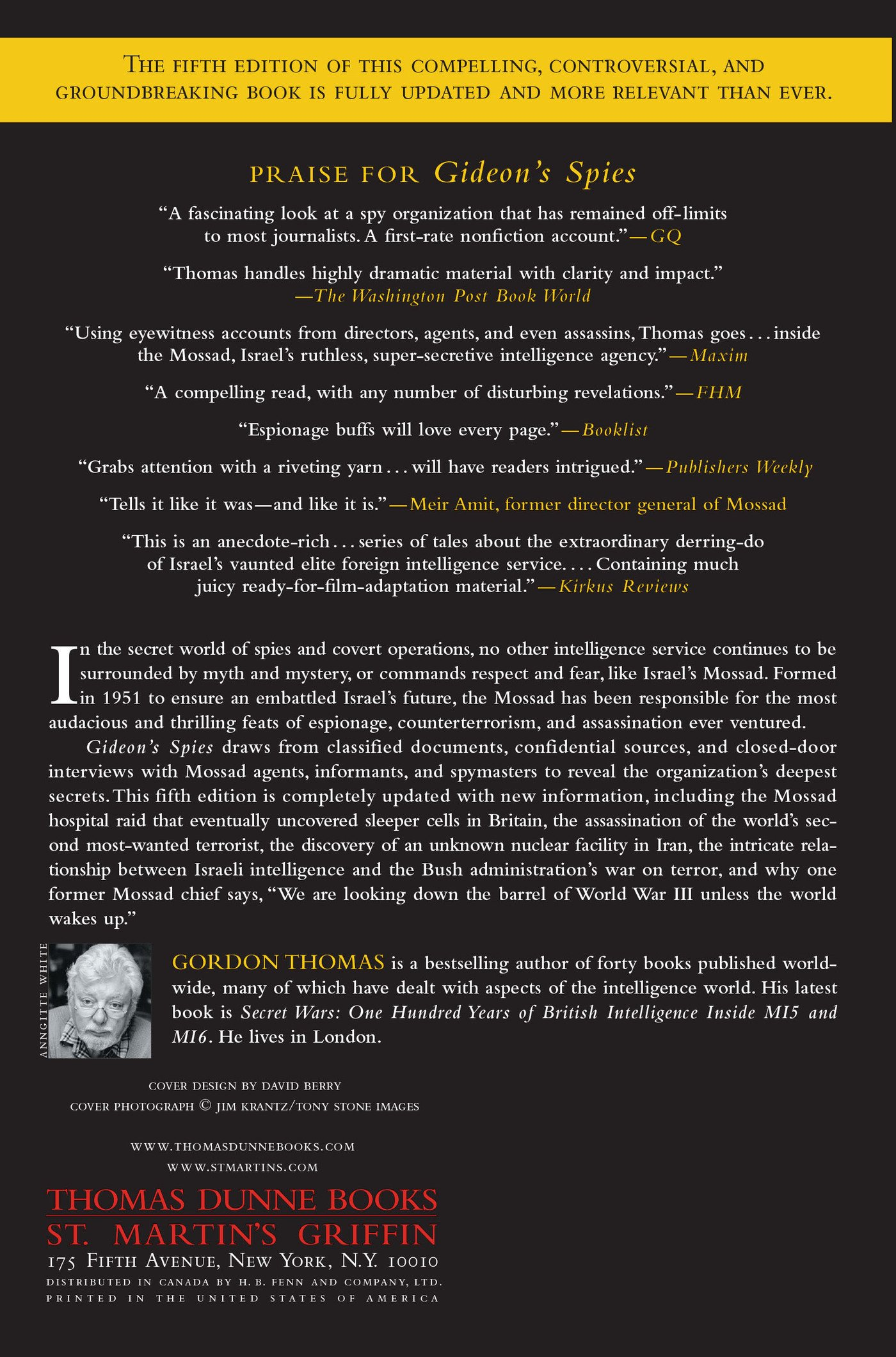 Gideon's Spies: The Secret History of the Mossad: Gordon Thomas:  9780312539016: Amazon.com: Books