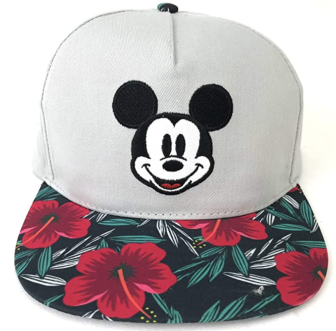 2eeb1f21d91 Image Unavailable. Image not available for. Color  Disney Mickey Mouse  Hibiscus Floral Flower Baseball Cap Hat ...