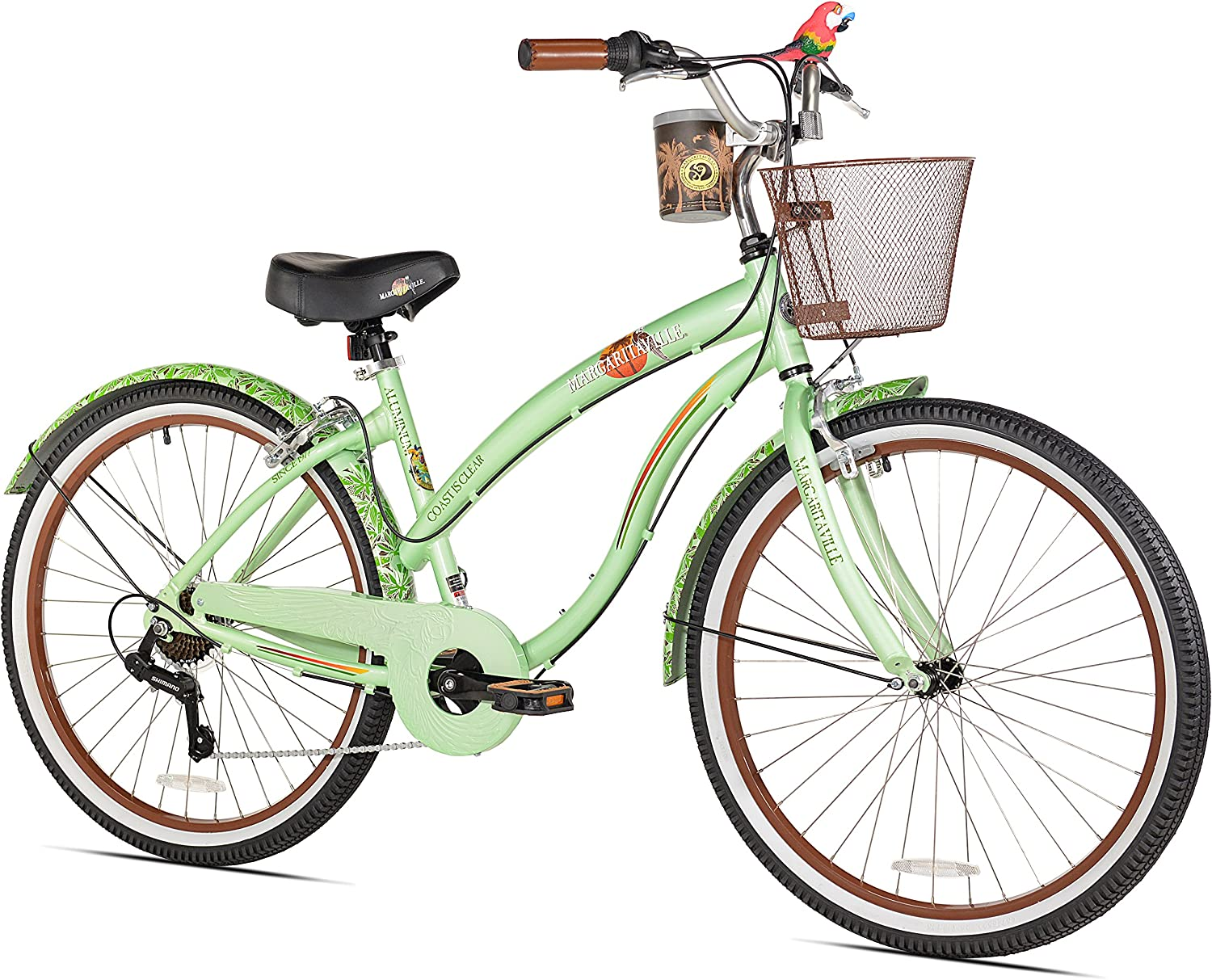 Margaritaville Coast Is Clear Women s Beach Cruiser Bike, 26-Inch