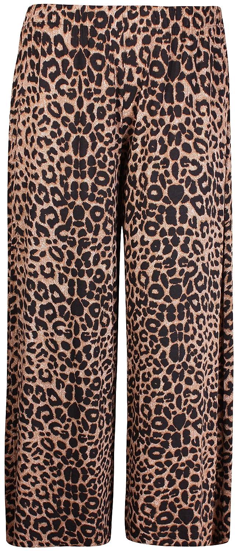 PurpleHanger Womens Plus Size Printed Palazzo Pants Black /& Brown Leopard 20-22