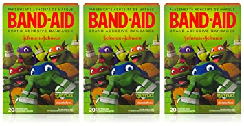 Band-Aid Brand Adhesive Bandages - Teenage Mutant Ninja Turtles - 20 Count Assorted Bandages Per Box...