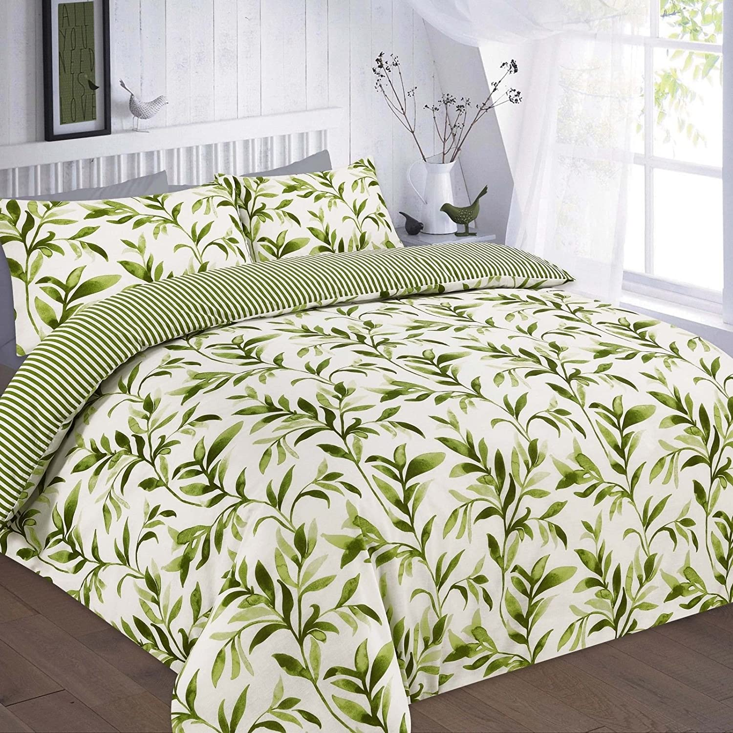 Weed Duvet Cover Cannabis Leaf Duvet set Bedding Pillowcase All Sizes Available