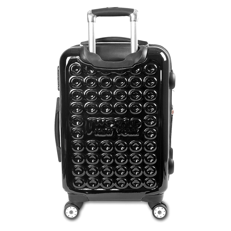Black JLH-2502 BLACK J World New York Jonit Hardside Spinner 2pc Luggage Set
