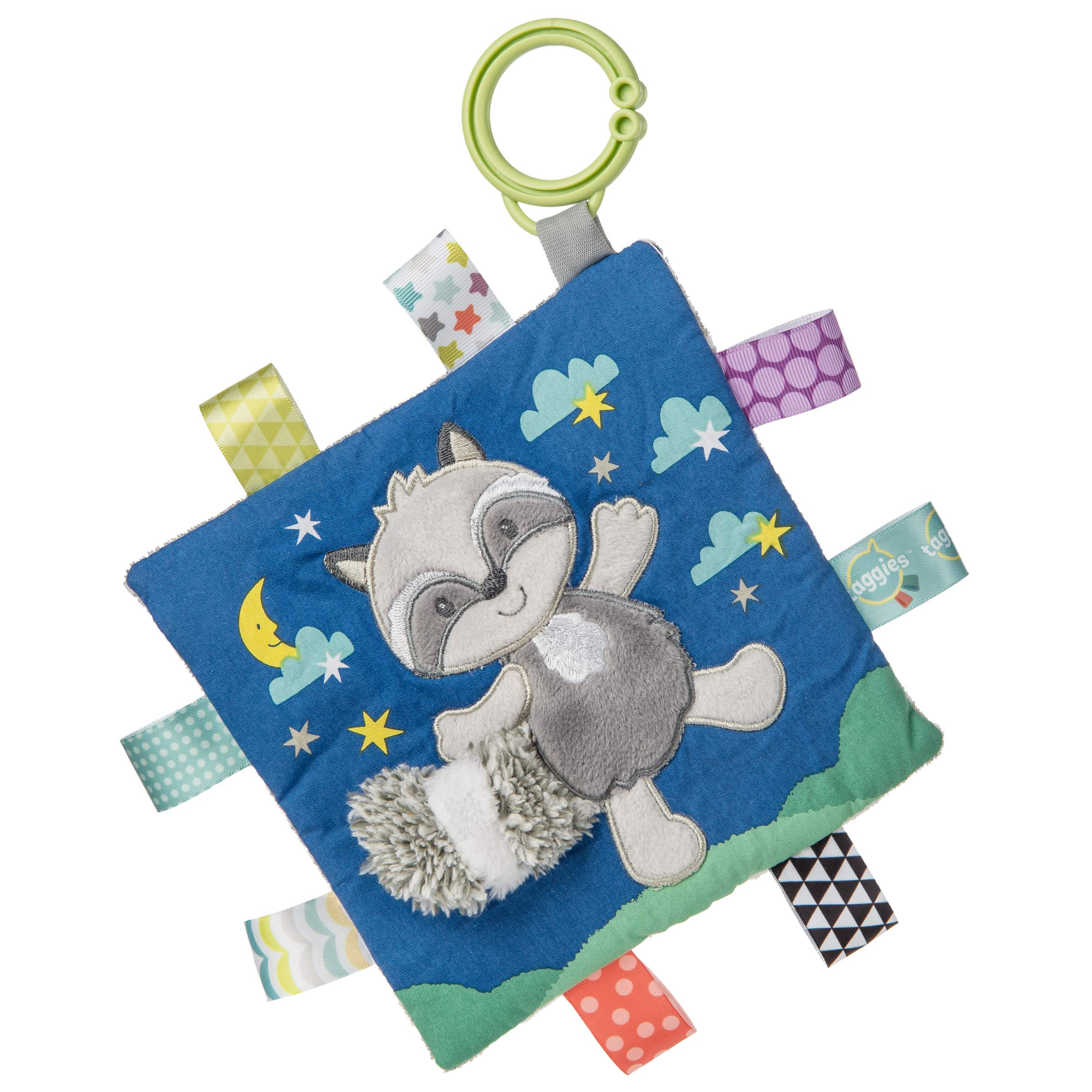 Taggies Soothing Sensory Crinkle Me Toy with Baby Paper and Squeaker, Harley Raccoon, 6.5 x 6.5-Inches by Taggies