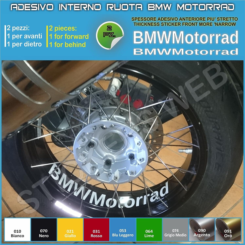 BMW Motorrad R1200GS F800GS adesivi ruote interno strisce cerchi decalcomanie strip cerchioni Cod. 0282 (090 Argento) Pimastickerslab