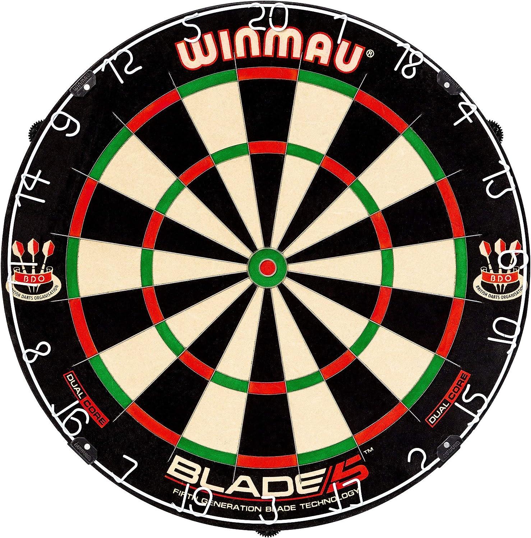 Winmau Blade 5デュアルコア剛毛ダーツボード スコアエリアの増加 跳ね返りを軽減するダーツの偏向を改善 (認定リファービッシュ品)