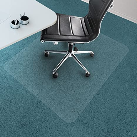 Office Marshal Chair Mat For Carpet Floors, PVC, Low/Medium Pile   30u0026quot