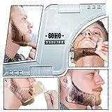 Beard Shaping Tool (Clear) w/ BONUS Beard Shaping Guide - Premium packaging! Shape your beard to perfection - Perfect gift for boyfriend or husband